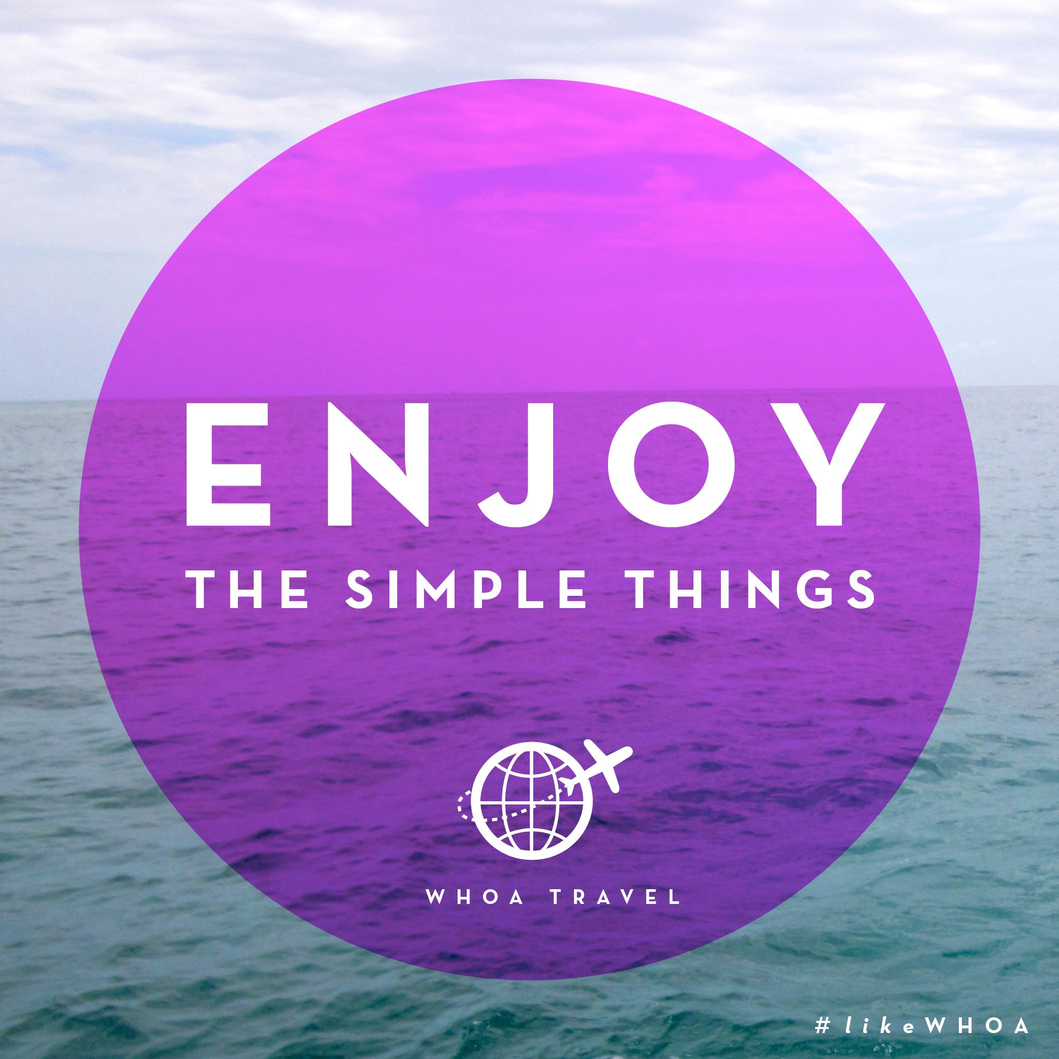 WHOA travel inspiration ADVENSPIRATION enjoy