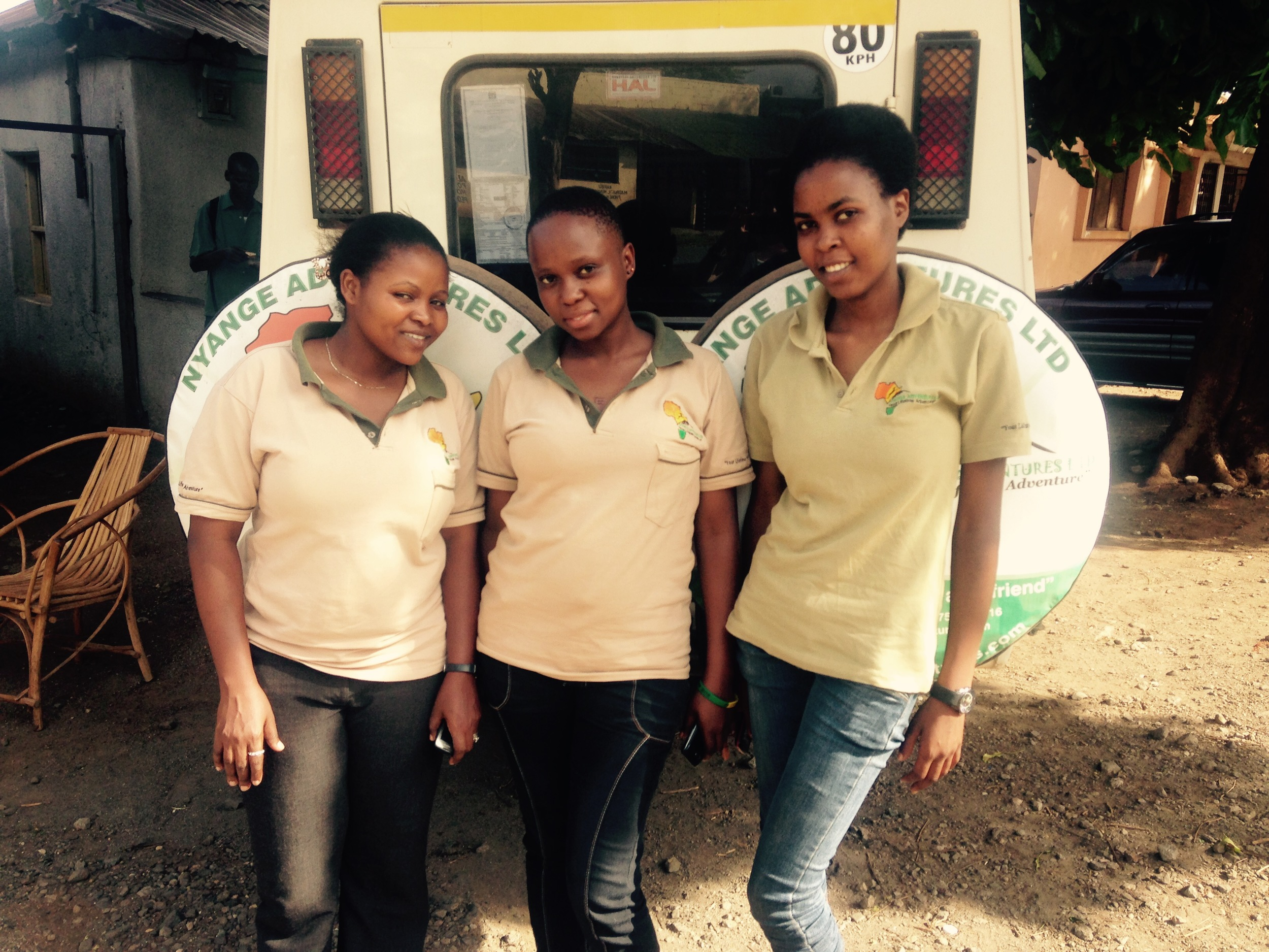 Jessica and her female mentors at Nyange Adventures