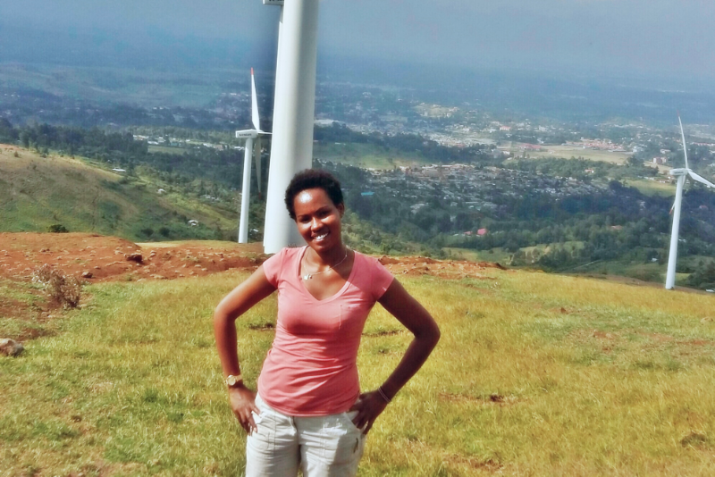 Siodi on a hike in the Ngong' Hills