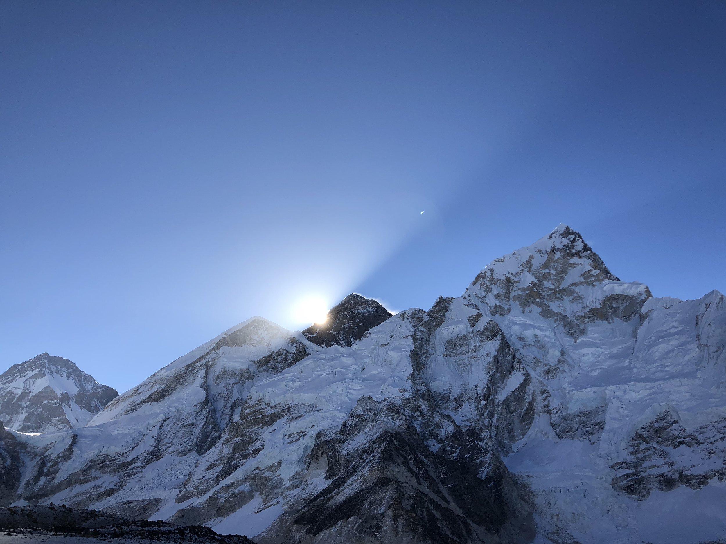DAY 10:BEHOLD GODDESS MOTHER OF THE WORLD - GORAK SHEP to KALA PATHAR to PHERICHEElevation: 5,160 - 5,555 - 4,370 mDistance: 13 km