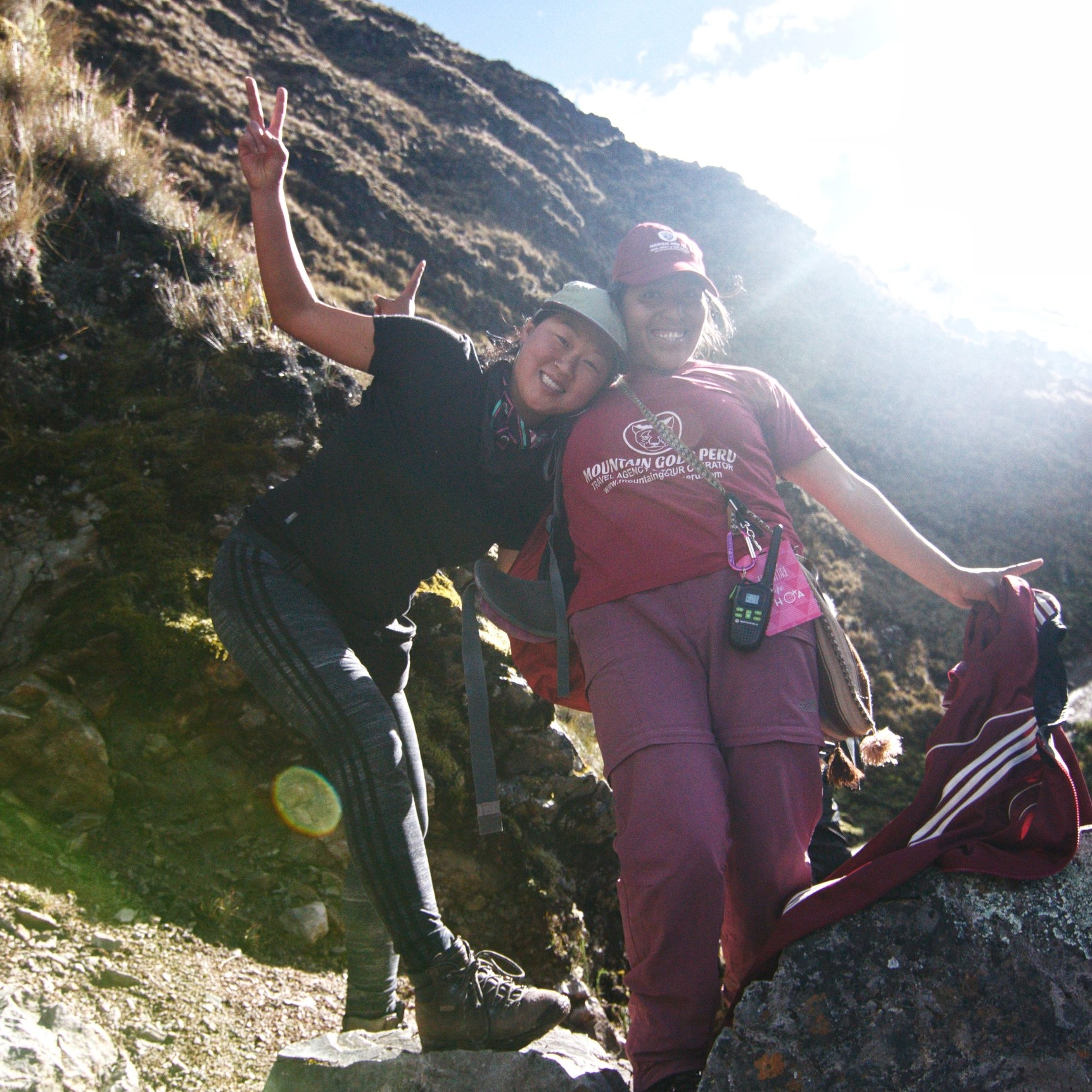 Amanda and Mama Sherpa on the Salkantay