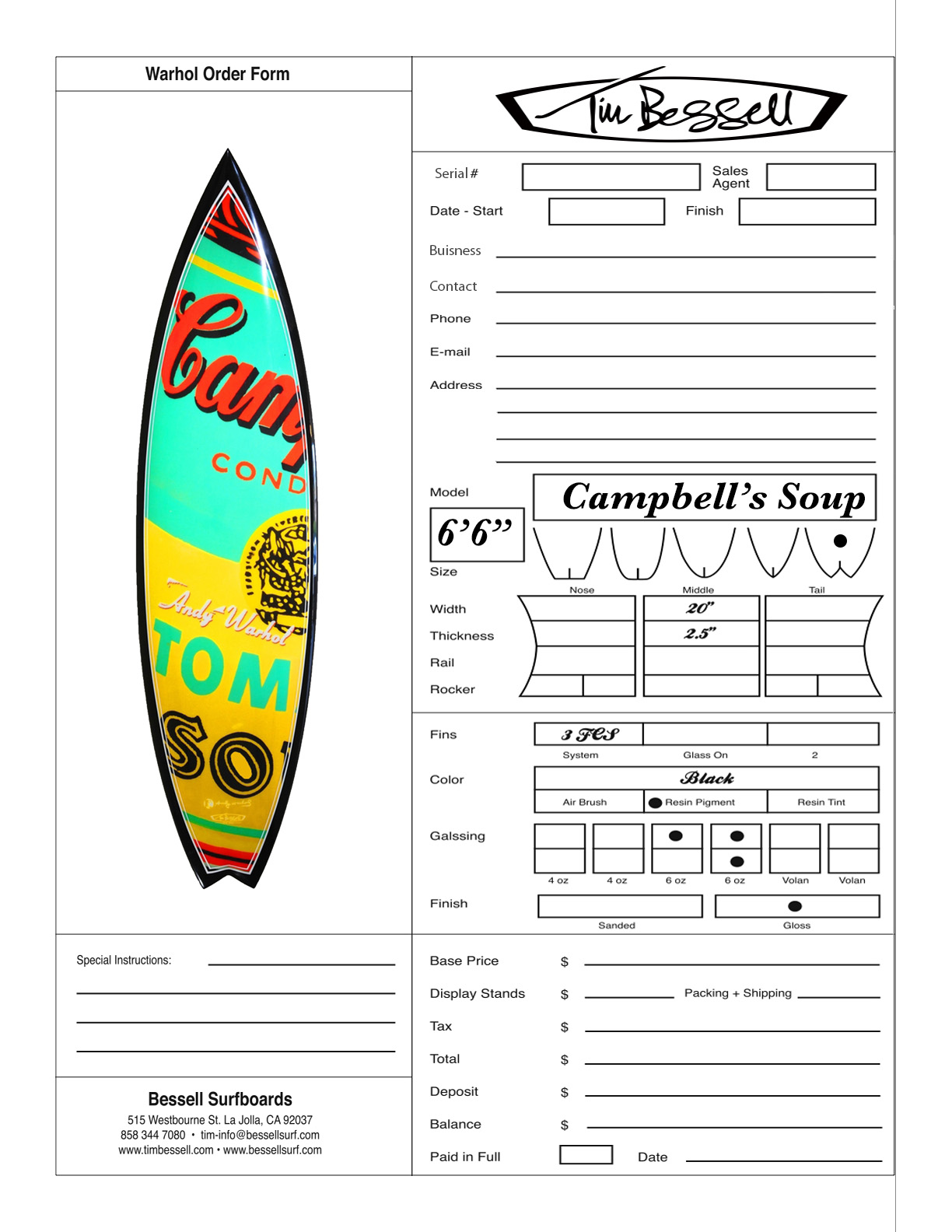 "Click Here For ""Campbell's Soup"" Order Form"