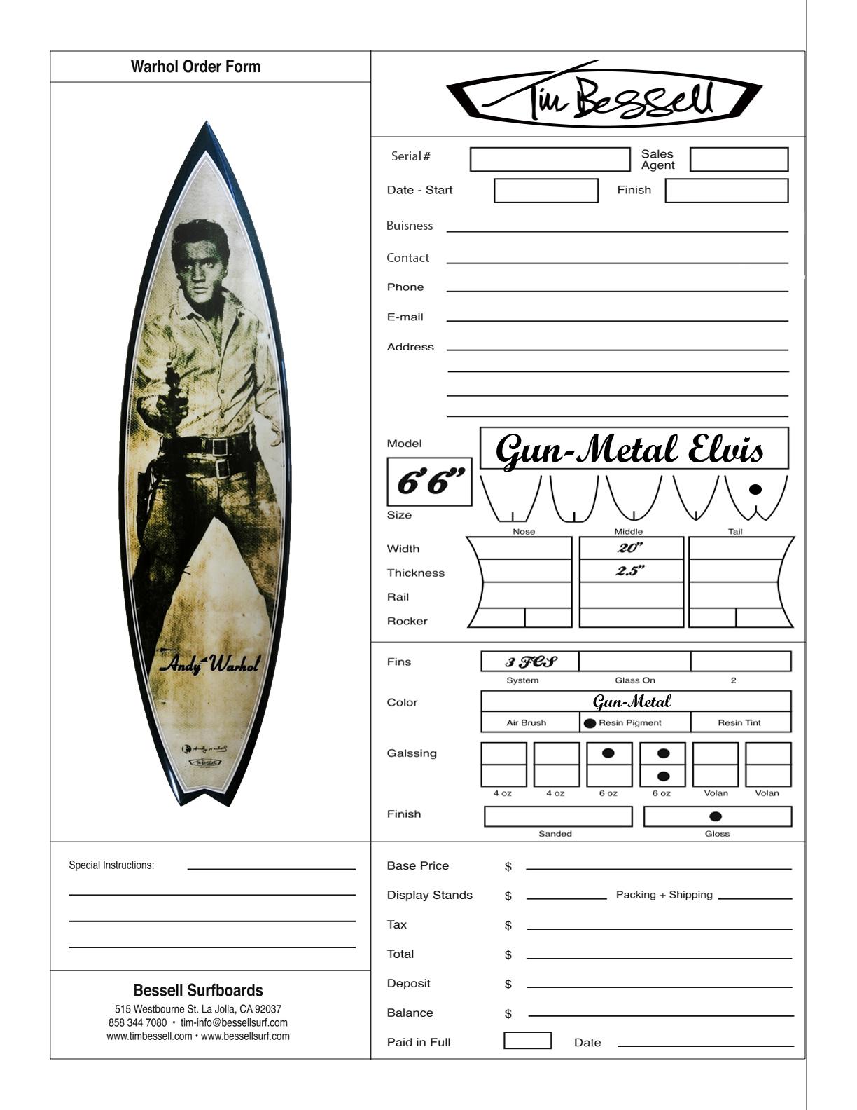 """Click Here For """"Elvis Gun-Metal"""" Order Form"""