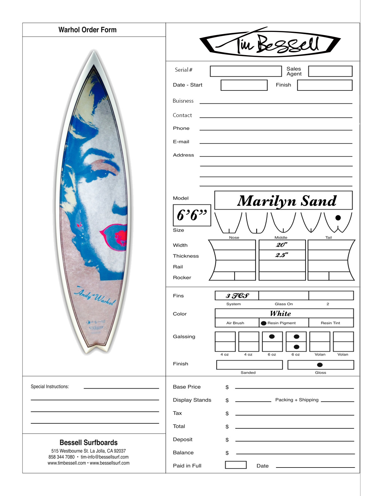 "Click Here For ""Marilyn Sand"" Order Form"