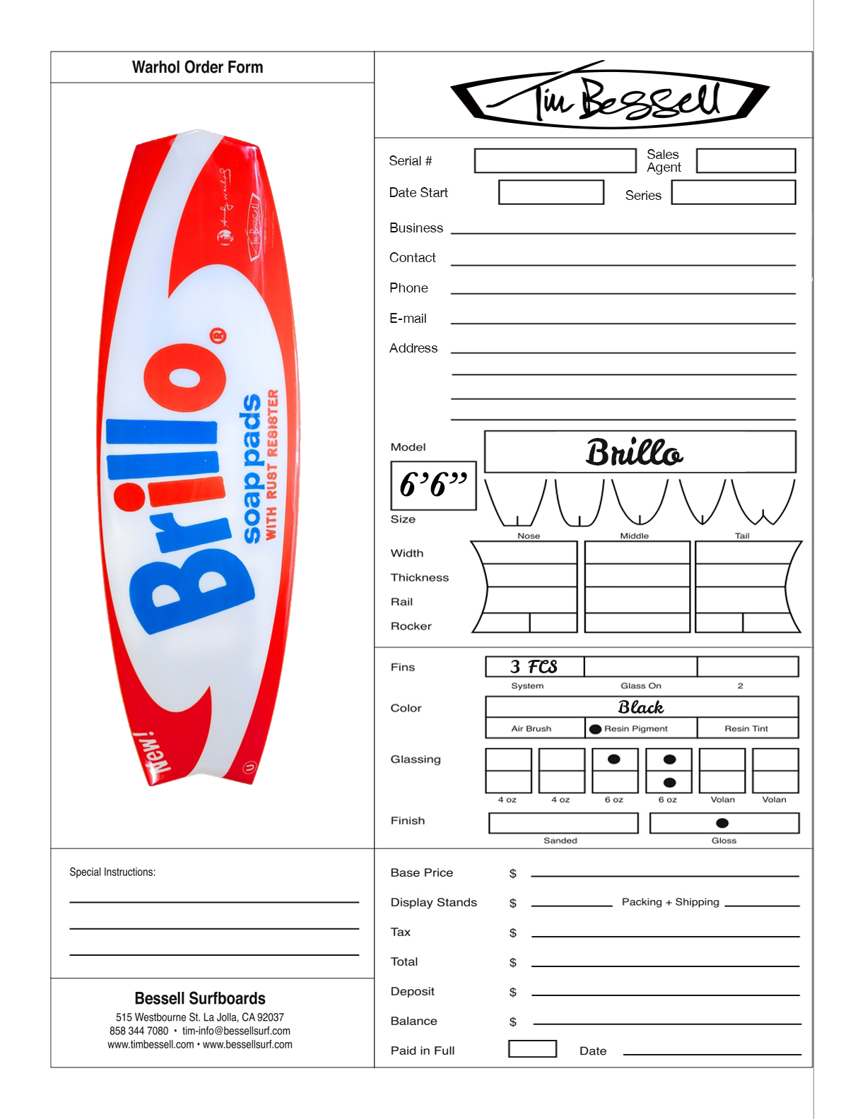"Click Here For ""Brillo"" Order Form"