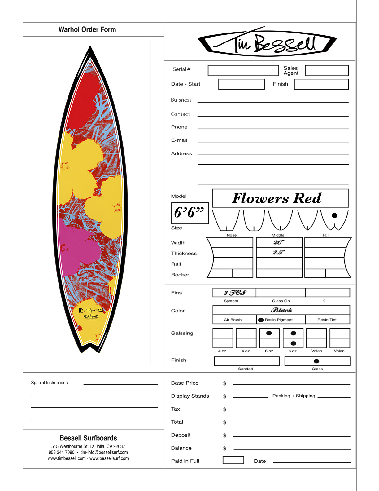 "Click Here For ""Flowers Red"" Order Form"