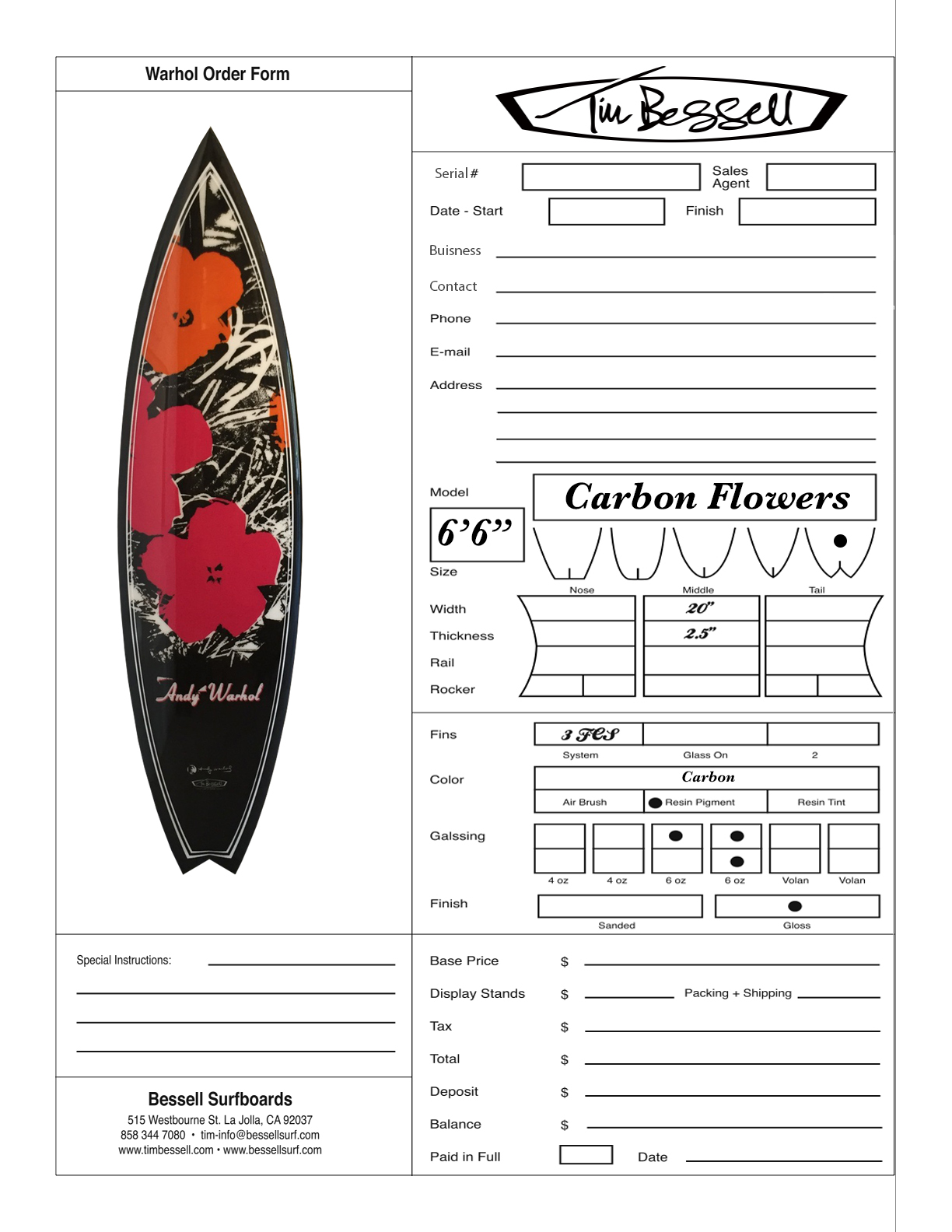 "Click Here For ""Carbon Flowers"" Order Form"