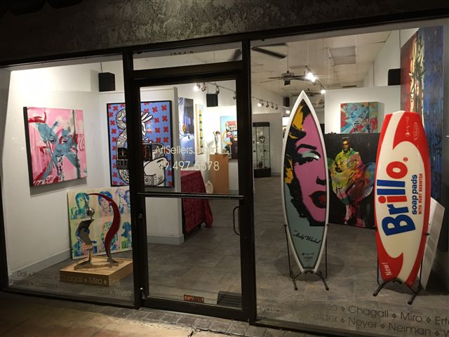 """Artsellers""  1294 South Coast hwy  Unit B  Laguna Beach Ca. 92651  949-497-5578"