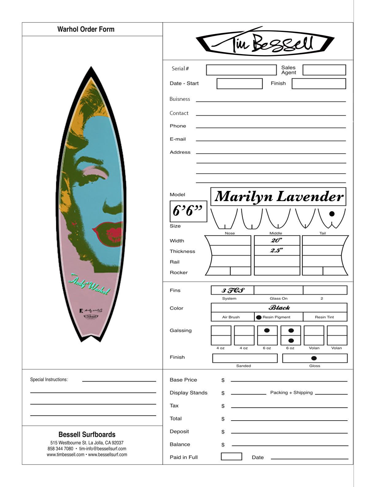 """Click Here For """"Marilyn Lavender (Black)"""" Order Form"""