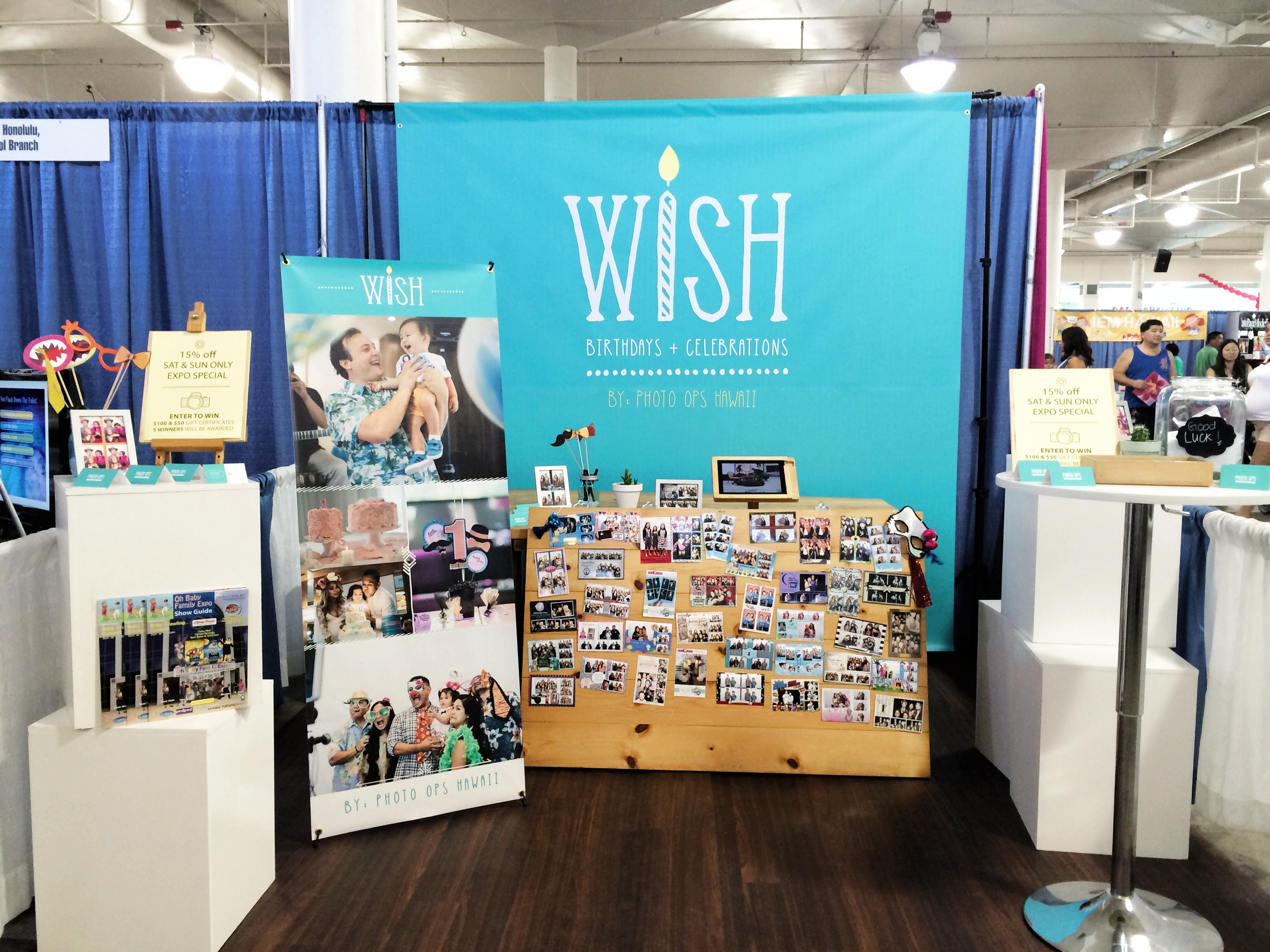 Our booth at the Oh Baby Family Expo at the Blaisdell Exhibition Hall, October 2014.  Mahalo to everyone that stopped by!