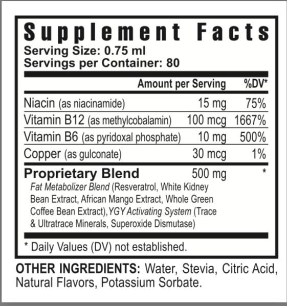 Slender FX REV Supplement Facts