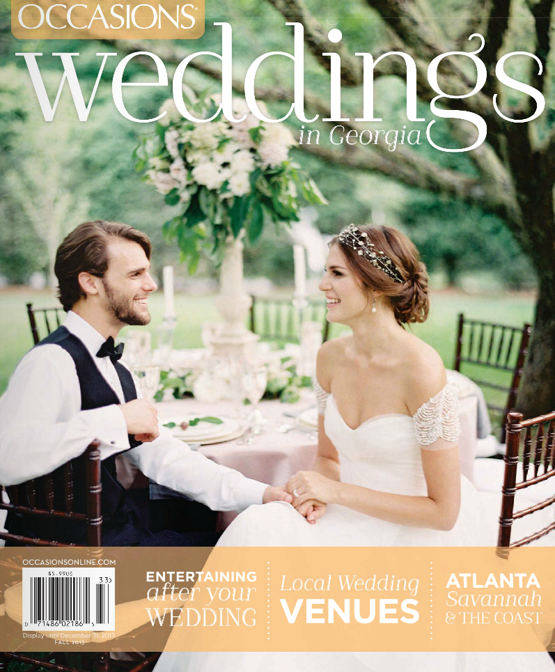 Occasions Magazine Georgia Edition Weddings - Fall 2013 - Odalys Mendez Photography / Produced by Sarah Chancey