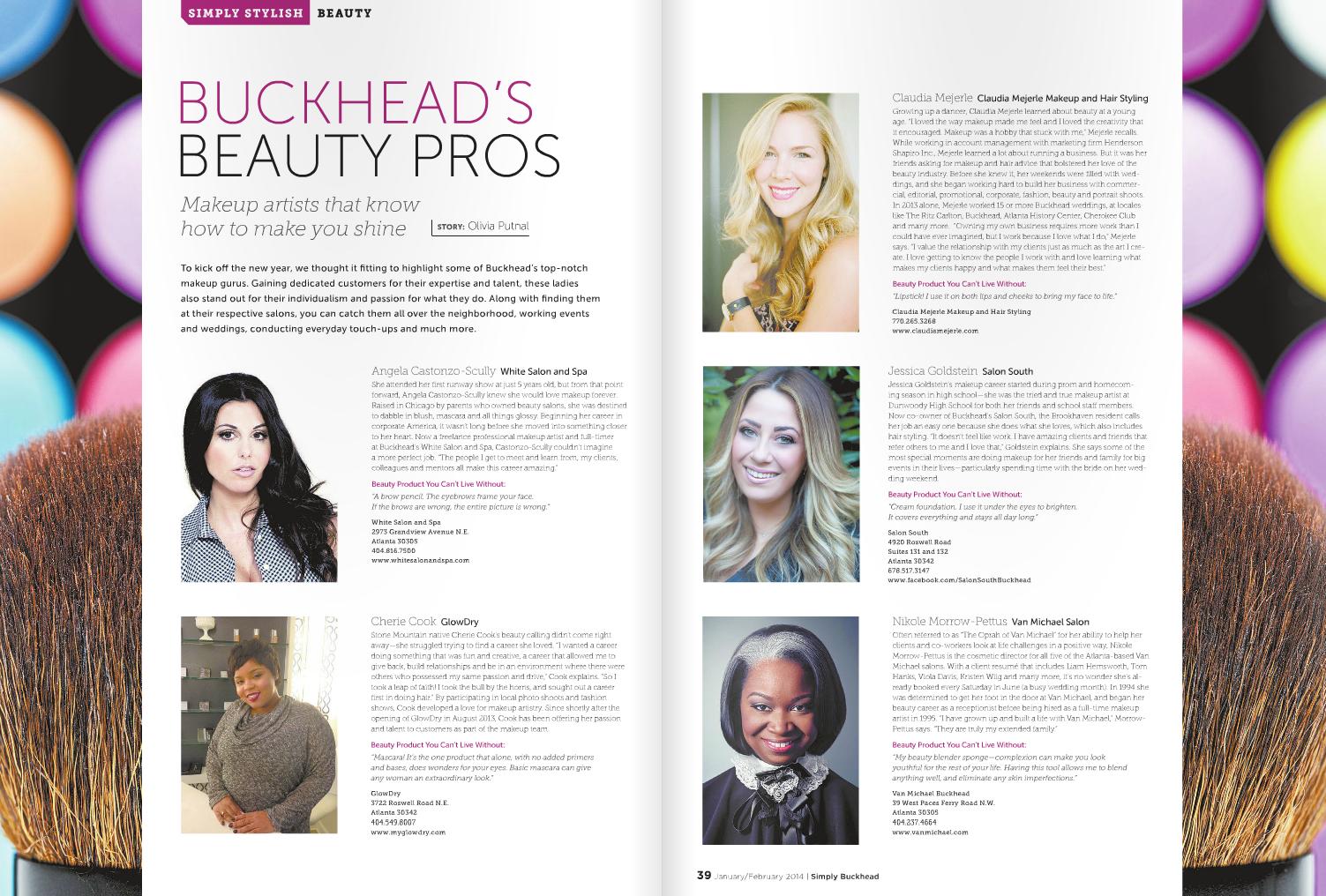 Simply Buckhead Jan/Feb 2014 - Buckhead Beauty Pros