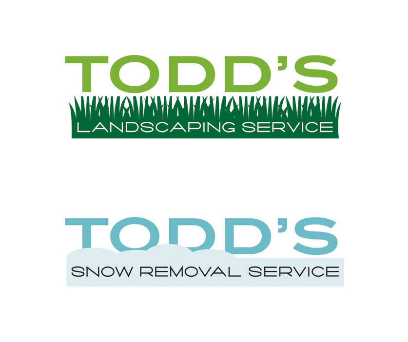 Seasonal logos for a landscaping service