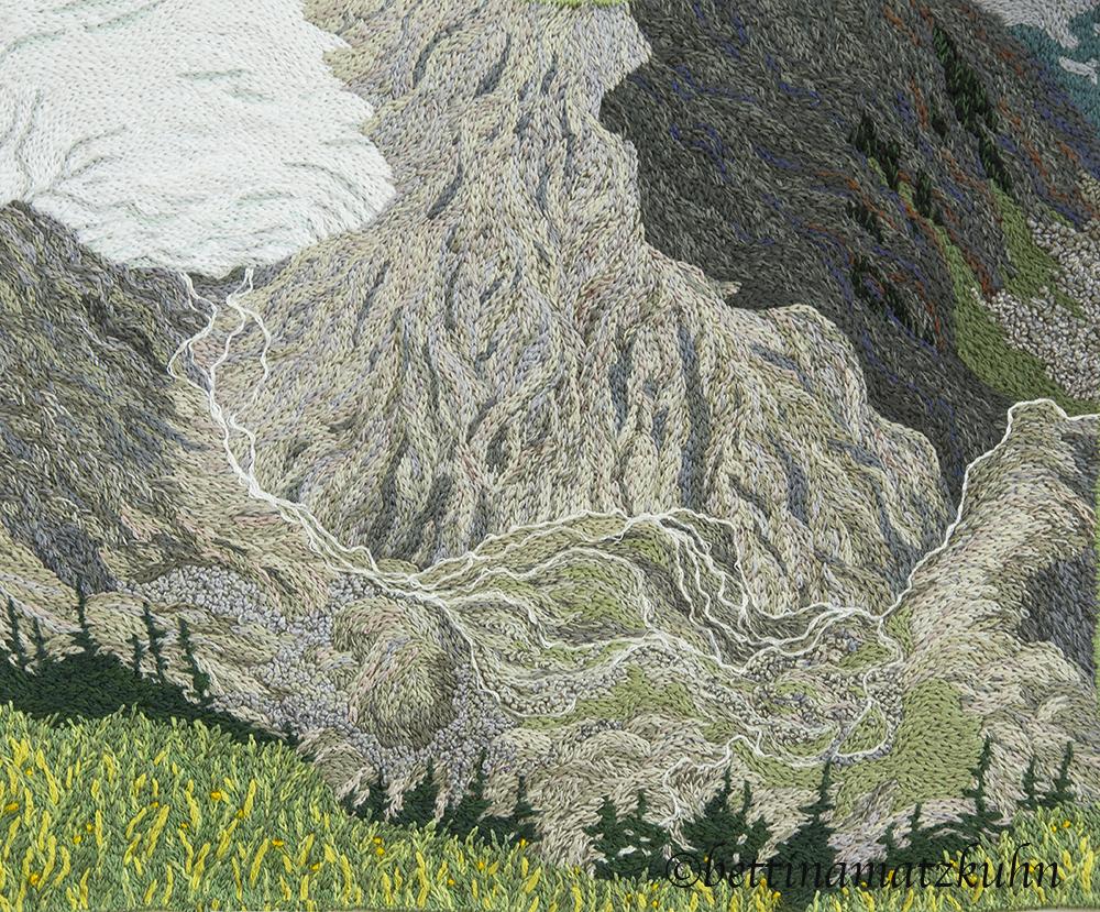 Melt 2016 38 x 5 cm  hand embroidery