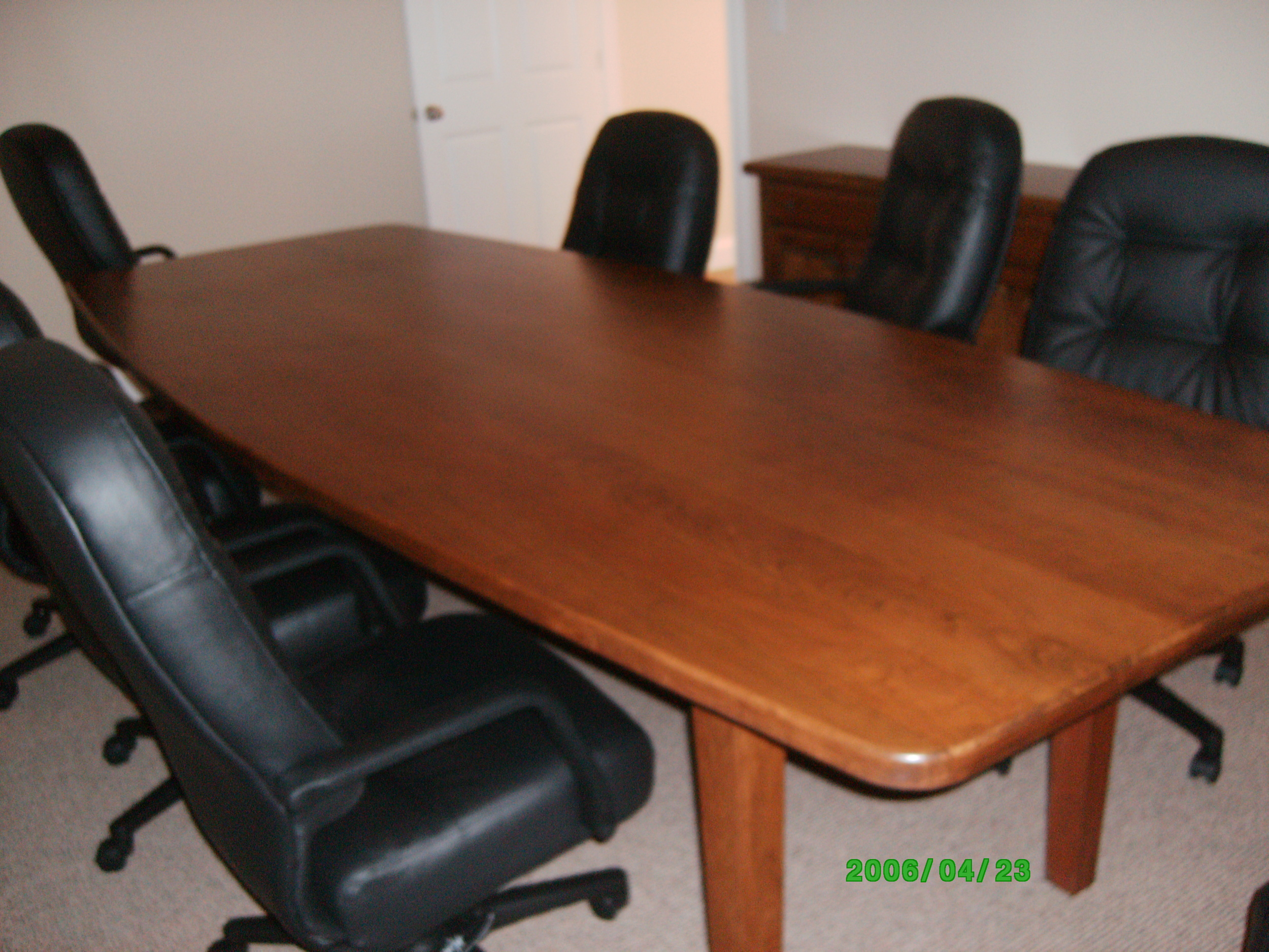 Hazen and Sawyer's cherry conference table