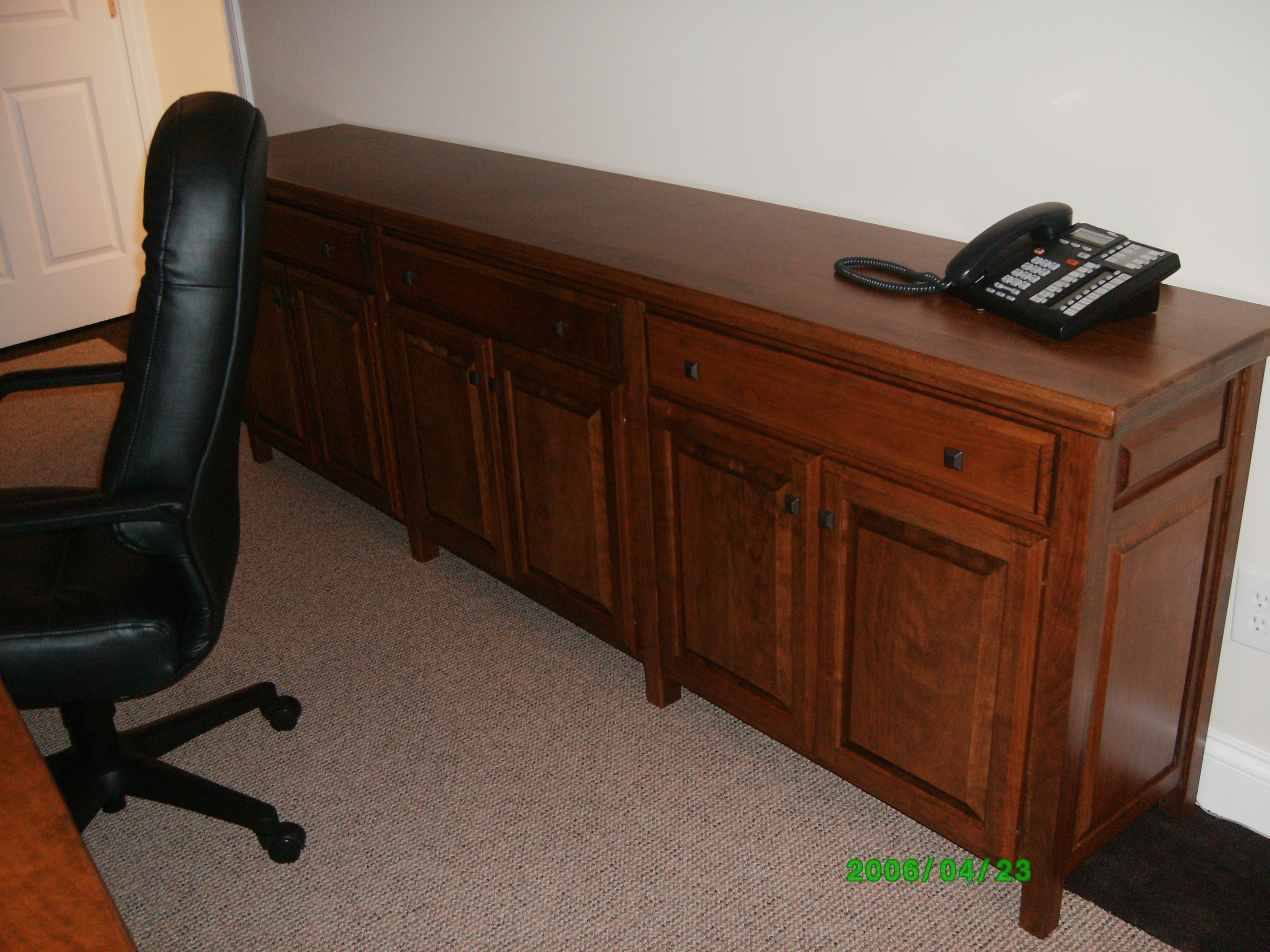Hazen and Sawyer's cherry credenza