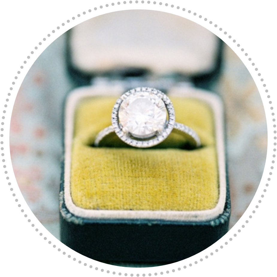 Vintage Halo Engagement Ring | Lovey Dovey Darling