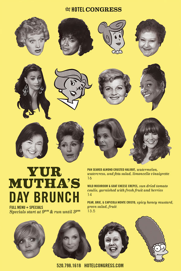 In-house poster promotion for the Cup Cafe's 2013 Mother's Day Brunch specials