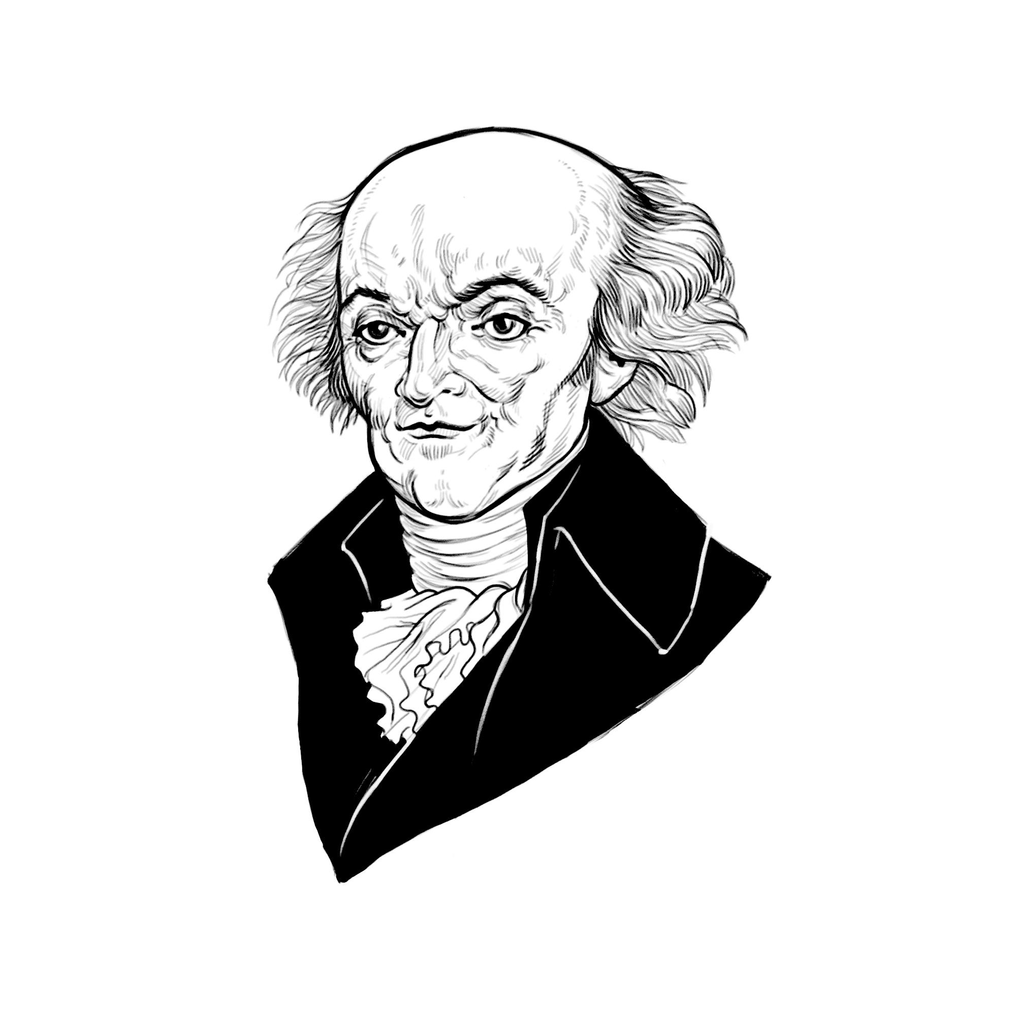 Spot illustration of Joseph De Lalande for Latitude Engineering