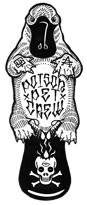 Graphic for Fair Wheel Bikes, Poison Pet Crew mountain bike team.