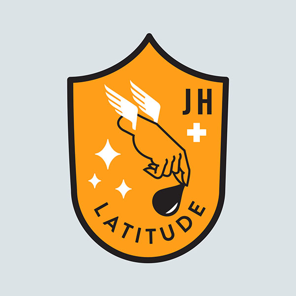Mission patch design for Latitude Engineering and Johns Hopkins joint project. The mission objective was to utilize UAV's to transport blood or medicine over large undeveloped areas of Africa.