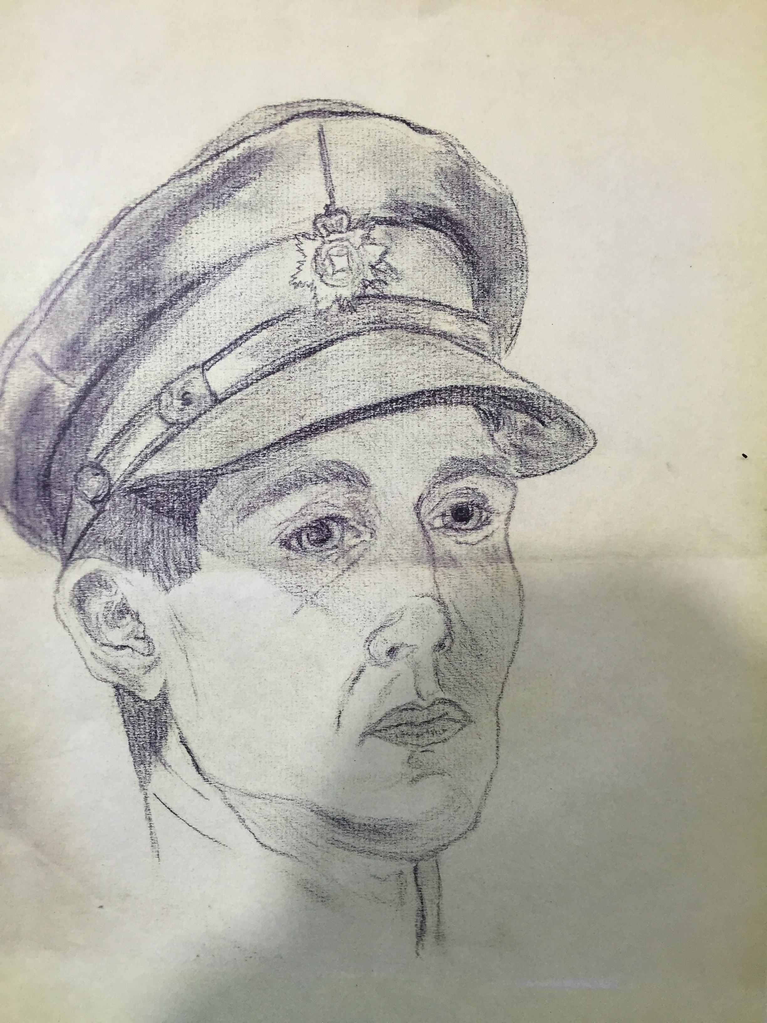 original sketch from another artist to compare final portrait