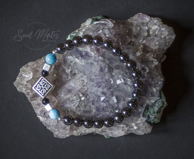 Focus - Great for the workday.  Grounding Hematite and Onyx combined with Apatite for allowing intuitive truth to flow.  $20