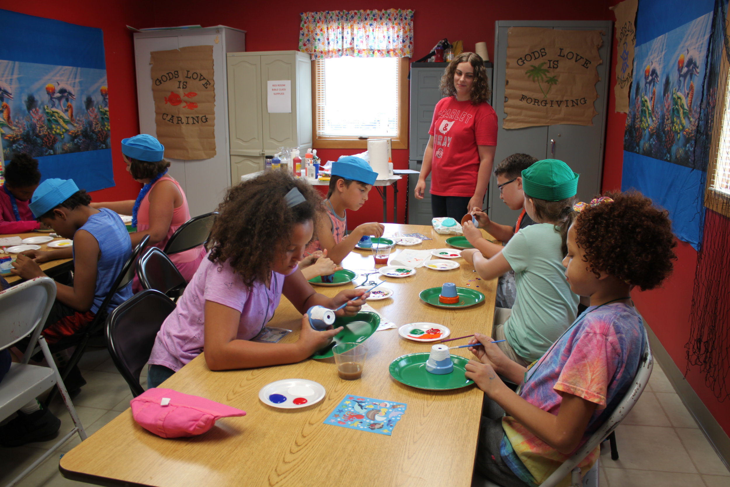 Crafts, Mrs Andrea Norris and Class 2019 VBS Super Saturday.