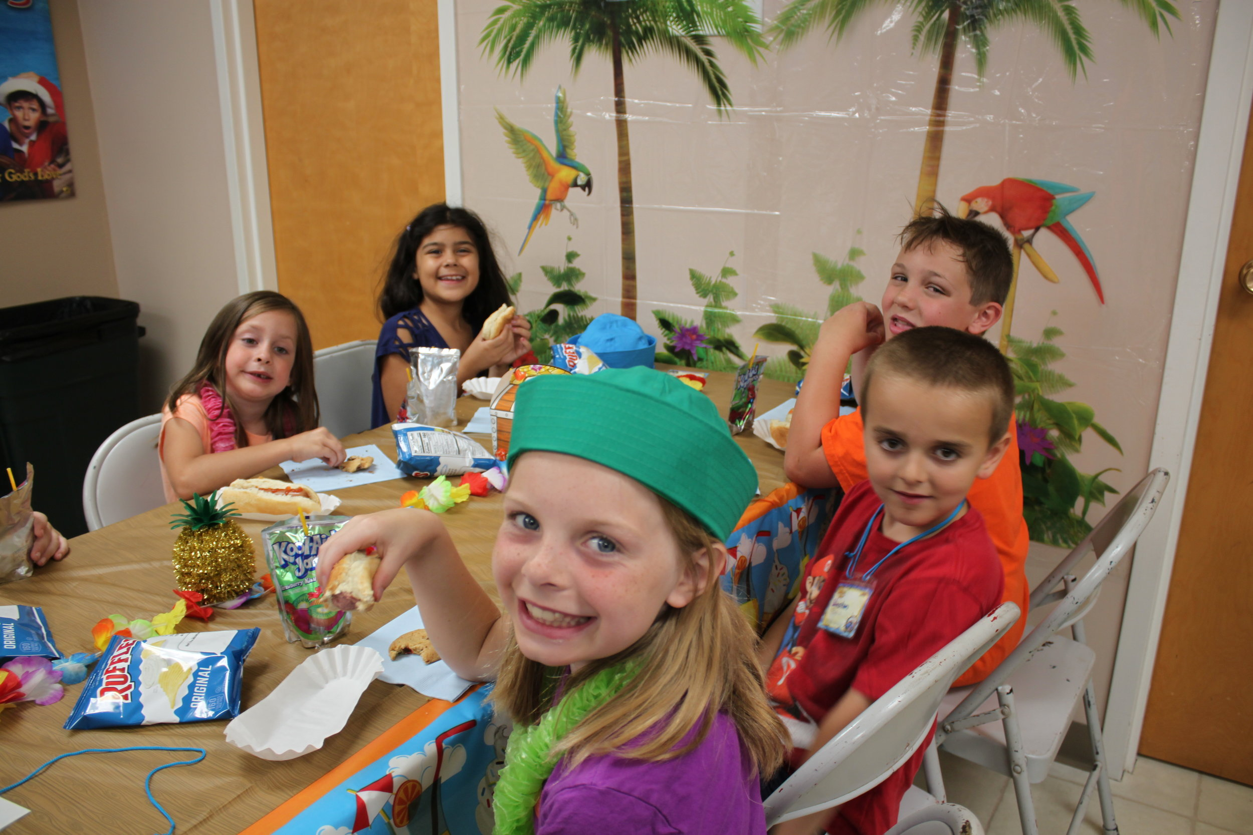 Lunch time at the 2019 VBS Super Saturday.