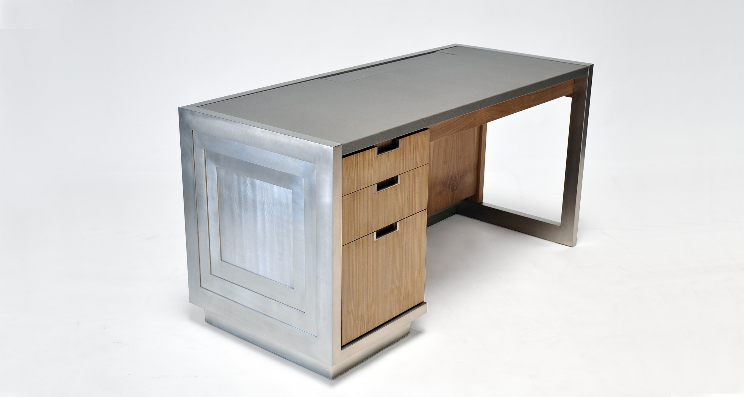 Bespoke Nickel Desk IKBA_Newell Design Studio1.jpg
