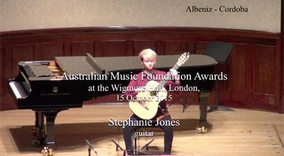 Stephanie Jones (guitar) - Albeniz  - Cordoba