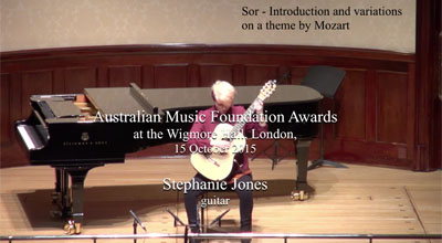 Stephanie Jones (guitar) -  Sor  - Intro and variations on a theme by Mozart