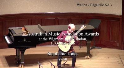 Stephanie Jones (guitar) -  Walton  - Bagatelle No. 3