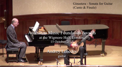 Andrey Lebedev (guitar) -  Ginastera  - Sonata for Guitar (Canto and Finale)
