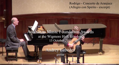 Andrey Lebedev (guitar) -  Rodrigo  - Concerto de Aranjuez (Allegro con Spirito - excerpt)