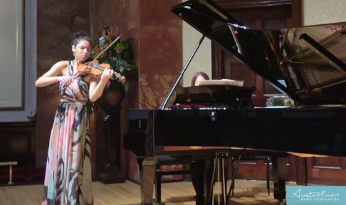 Phoebe Gardner performing at the AMF Finals, Wigmore Hall, London