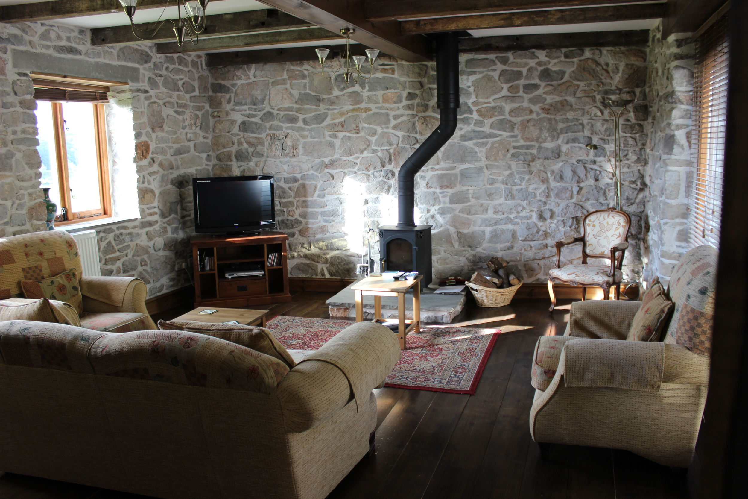 Much of the original charm was carefully preserved in the coach house.