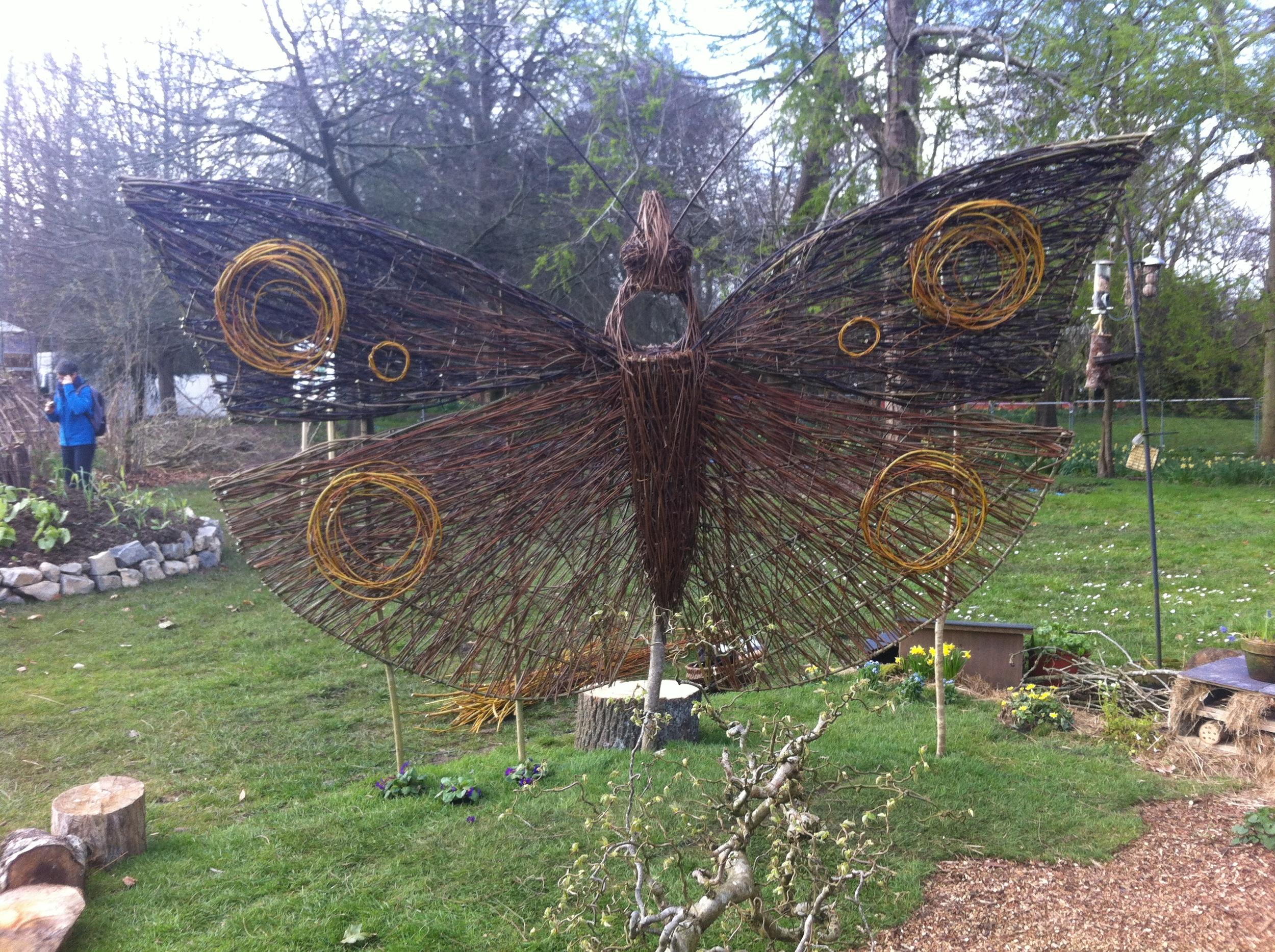 A garden butterfly sculpture.