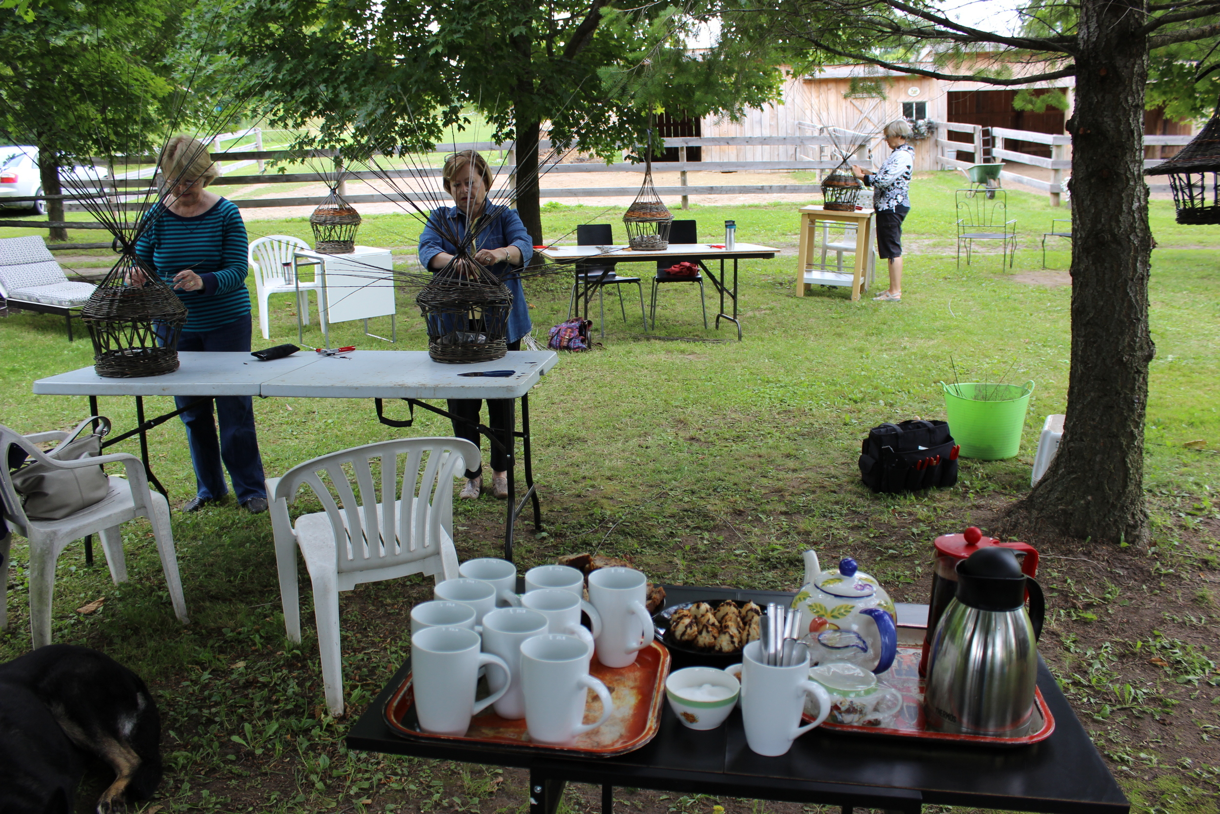 Time for a break...coffee, tea and goodies including our good friend's famous banana bread.
