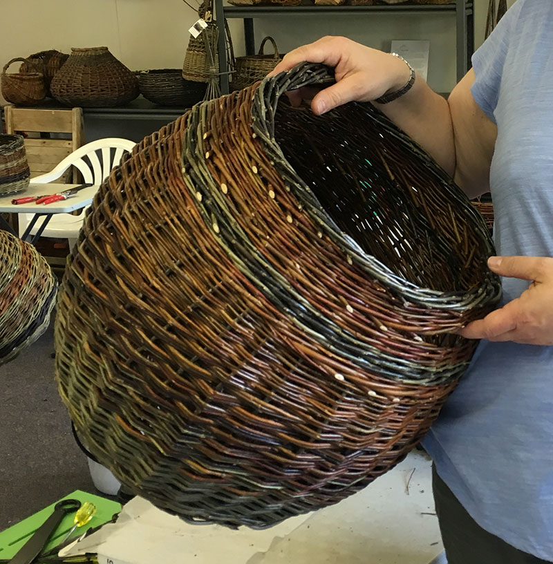 Katie's spectacular x-large round basket
