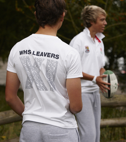 Sports tour t-shirt and rugby top