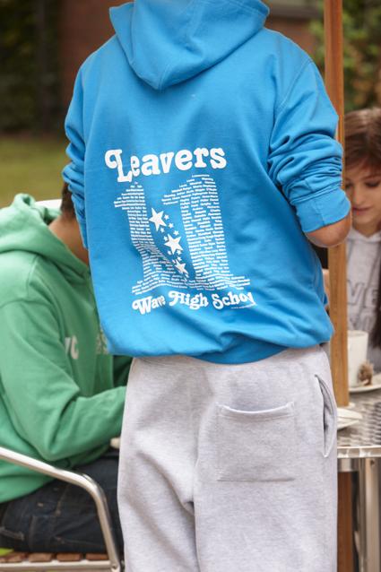 Custom leavers hoodie design