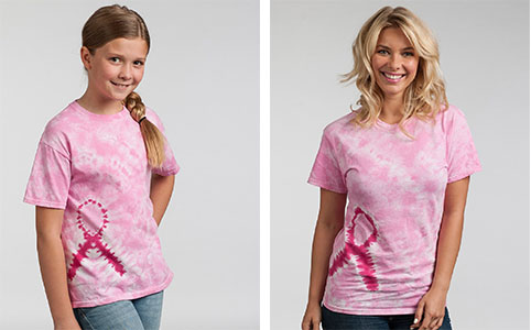Cancer Awareness t-shirts which can be printed with the event you're taking part in, your name and your cause.
