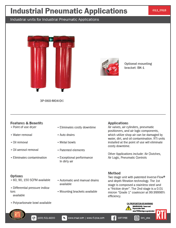 i011 Industrial Pneumatic Applications
