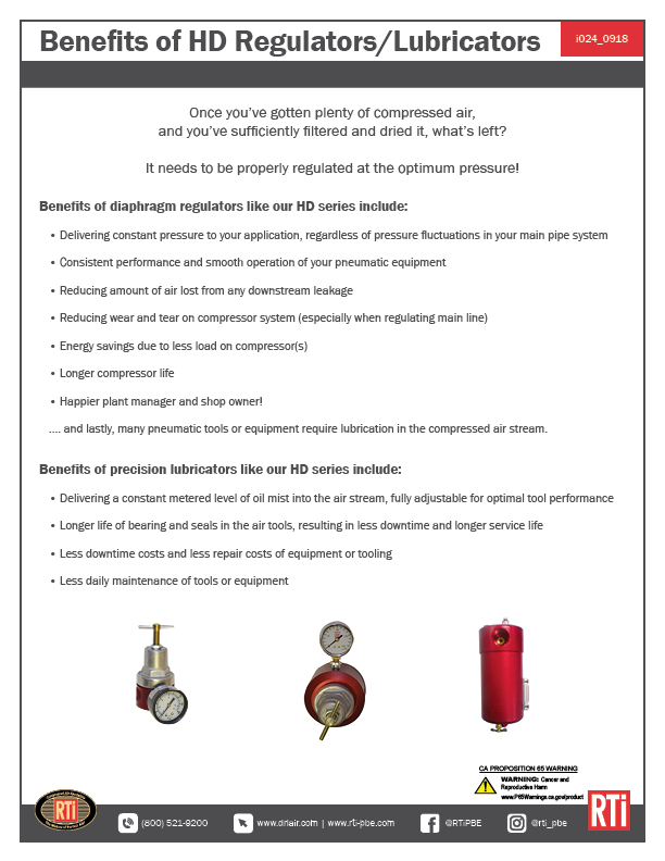 i024 Benefits of HD Regulators/Lubricators