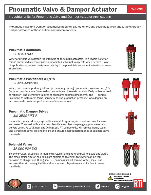 i033 Pneumatic Valve Damper Actuator