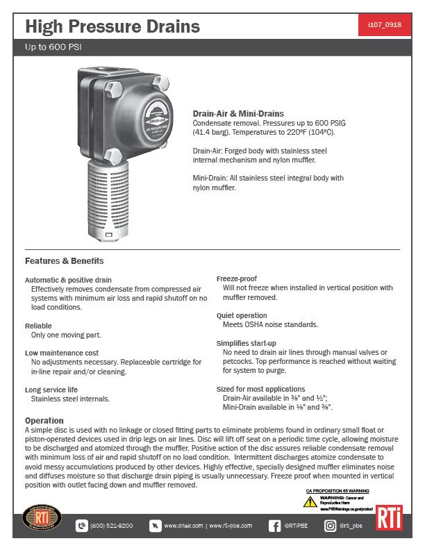 i107 High Pressure Drains
