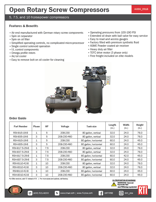 Ai006 Open Rotary Screw Compressors
