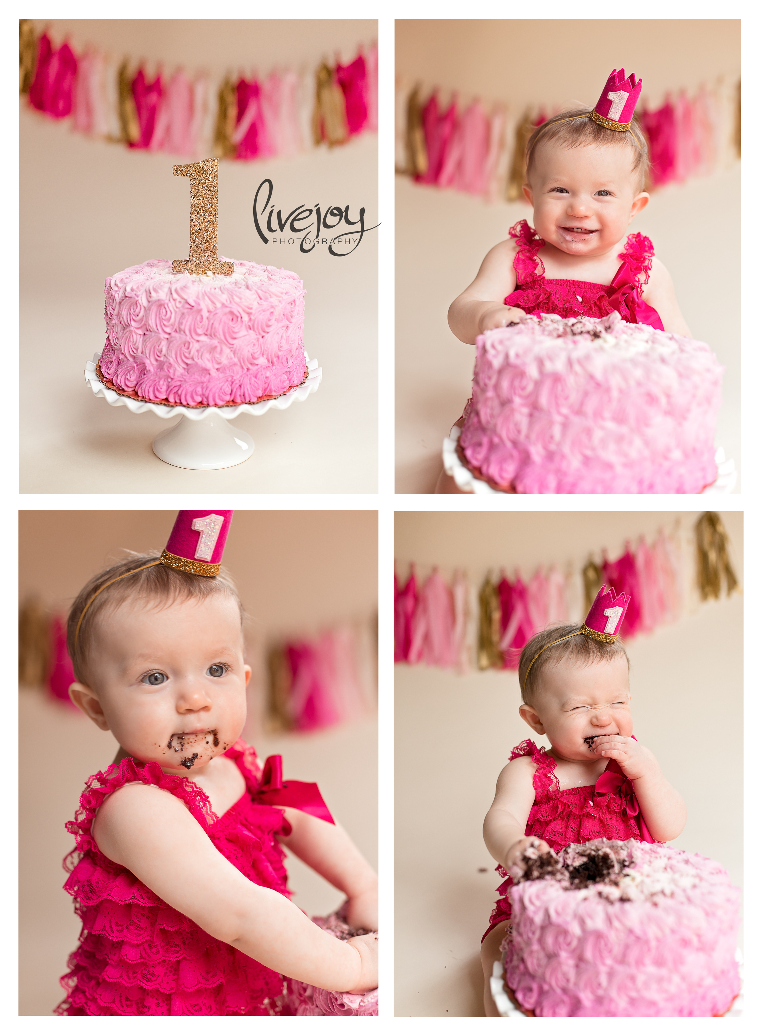 1 Year and Cake Smash Baby Photography | Oregon | LiveJoy Photography